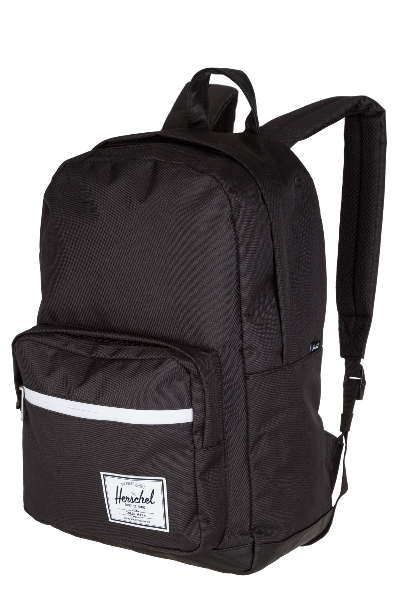 Herschel Pop Quiz Leather Backpack 22L (black black) buy ...