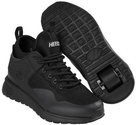 Heelys Piper Triple Black Shoes With Wheels Skatepro