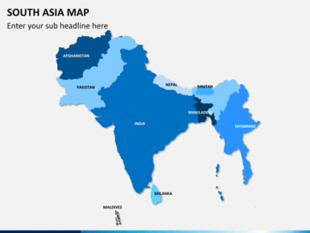 South Asia Map PowerPoint   SketchBubble South asia map PPT slide 1