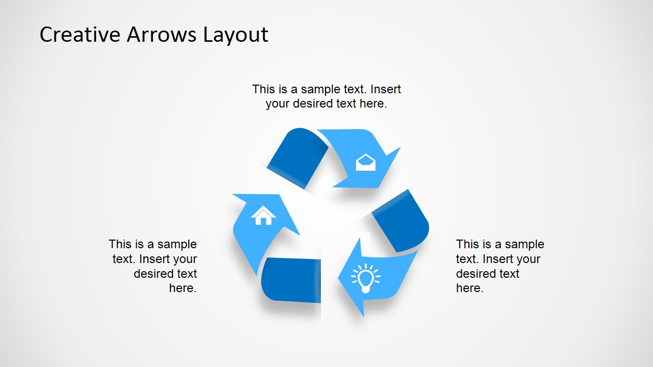 Creative Arrows Layout For Powerpoint Slidemodel