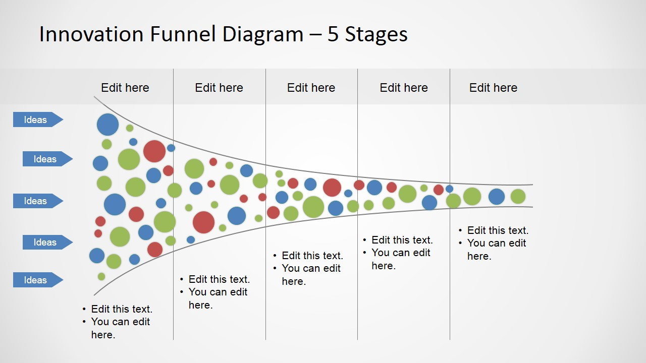 5 Stages Funnel Analysis Horizontal Slide Slidemodel