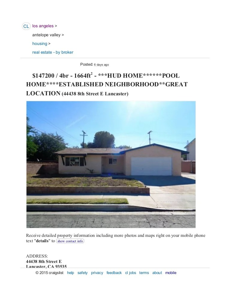 Craigslist Mobile Homes Los Angeles - Homemade Ftempo