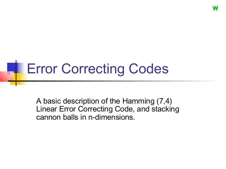 error correction code - 768×576