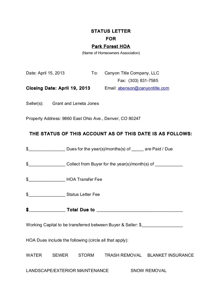 Tenant Estoppel Certificate Form