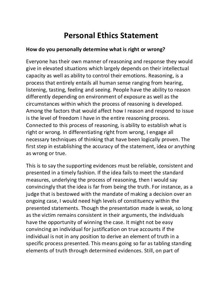 Sample Paper Ethics