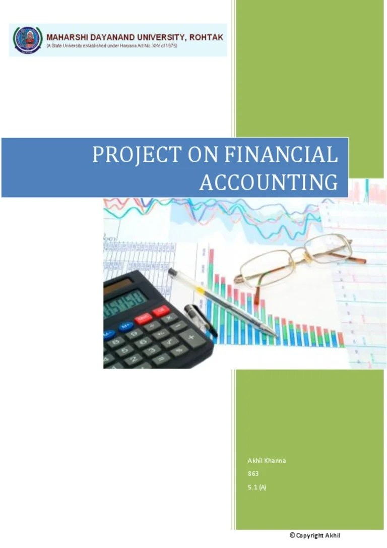 Project On Accountancy Class 11 12