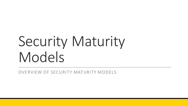 Security Information Summary Executive Policy