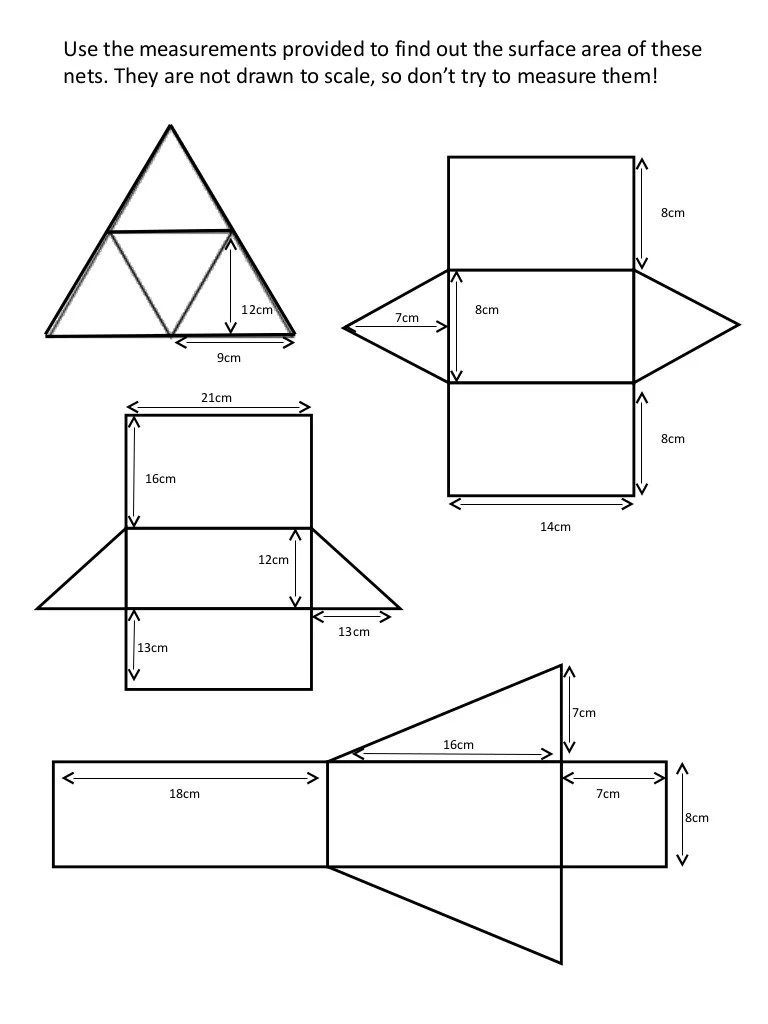 worksheet Surface Area Of A Prism Worksheet surface area from nets worksheet free worksheets library download w ksheet surf ce re prism mytourvn study site