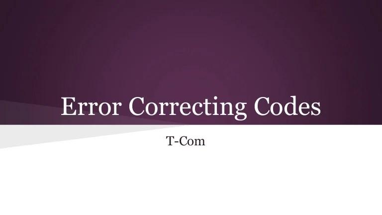 error correction code - 768×432
