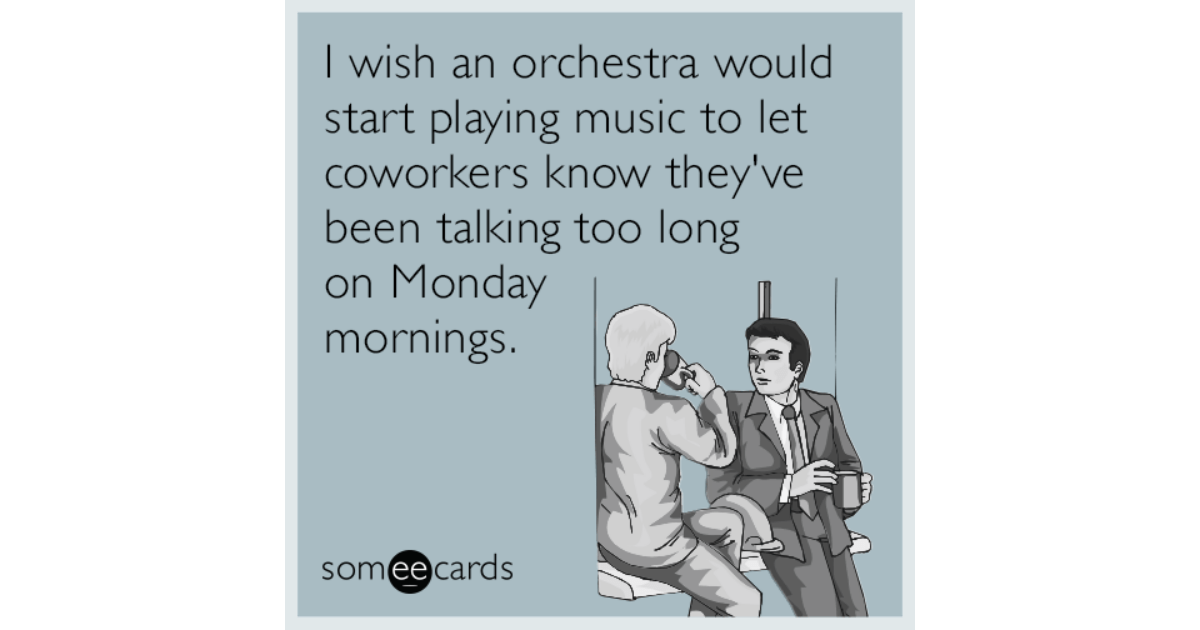 I Wish An Orchestra Would Start Playing Music To Let