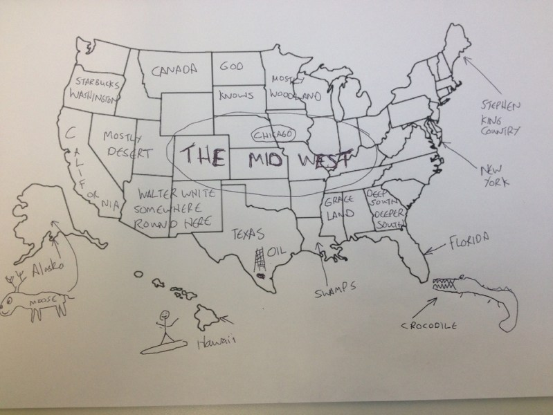 Brits Fail To Fill Out Map Of The United States   Someecards Geography In honor of Thanksgiving  someone asked a bunch of Brits to fill in a map