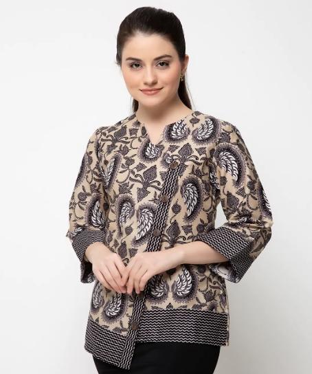 30 Model Baju Batik Atasan Wanita Terbaru Untuk Kerja