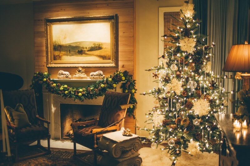 Expert Ideas for Elegant Holiday Party Decor     holiday party decor  Check out this gorgeous fireplace and tree  These  tips walk you through how to throw