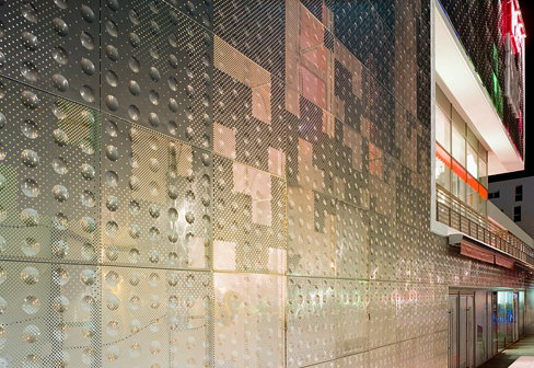 Embossed And Perforated Cladding Le Ruban Bleu By Rmig