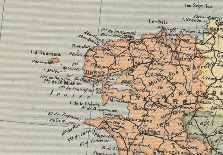 Old Map of France 1919 Antique map of France   OLD MAPS AND VINTAGE     Old Map of France 1919 Antique map of France   product image