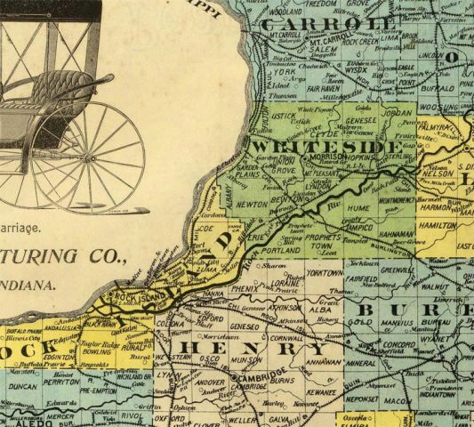 Old Map Illinois 1880   OLD MAPS AND VINTAGE PRINTS Old Map Illinois 1880   product image