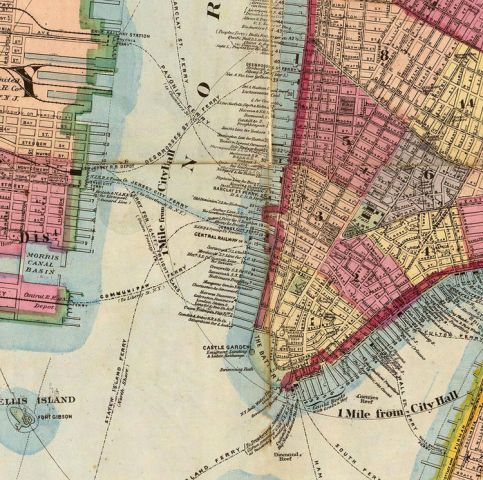 Old Map of New York and Manhattan 1860 Old Map of New York and Manhattan 1860   product image