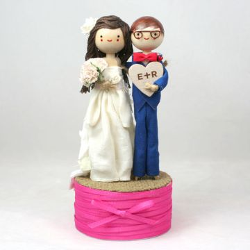 Custom Wedding Cake Topper   The Small Object     Custom Wedding Cake Topper   product images of