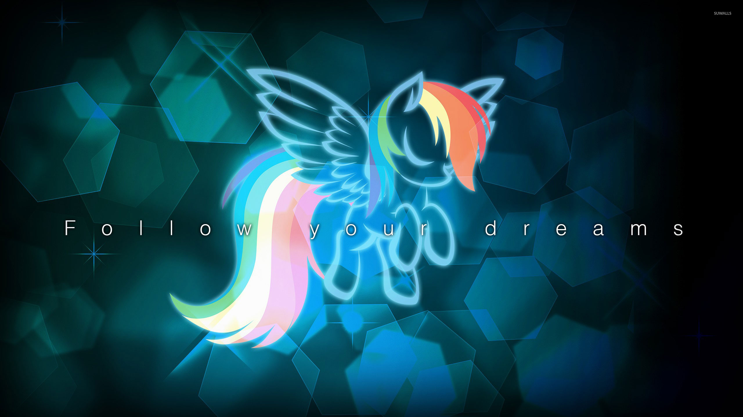 2560 X 1440 Wallpaper Black Pony