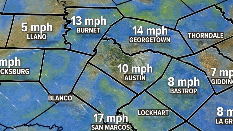 HD Decor Images » Weather Maps on KVUE in Austin Current Wind Speed