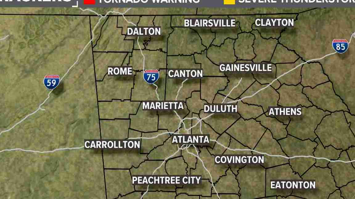 HD Decor Images » Weather Maps on WXIA in Atlanta Severe Weather Warnings