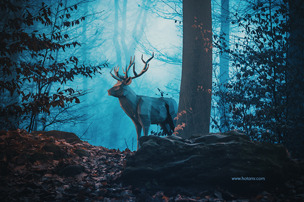 Blue Forest Animals By Amr Elshamy Thearthunters