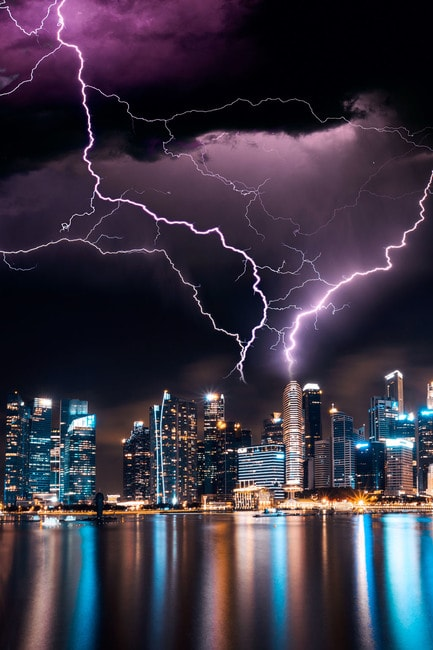 Thunderstorms And Lightning Wallpaper