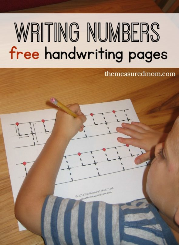 Free handwriting pages for writing numbers   3 levels    The     Print these free numbers handwriting pages to help your preschooler or  kindergartner learn to write numbers