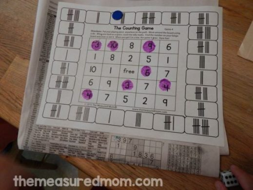 Free counting games for K 2   The Measured Mom counting game 4