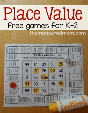 Free place value games for K 2   The Measured Mom Love these no prep place value games for kindergarten through second grade