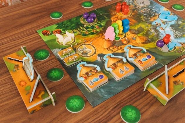 Board Games We Love for Kids  Reviews by Wirecutter   A New York     The My First Stone Age children s board game set up on a wooden table