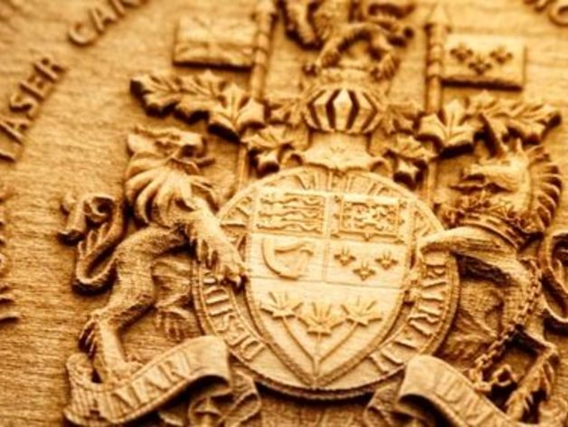 Laser Engraved 3d Wooden Coat Of Arms By Troteccanada