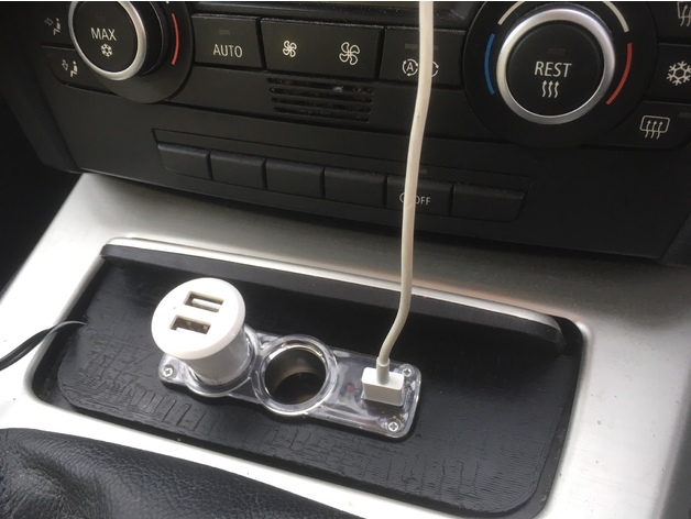 Console Ashtray Cigarette Adapter Accessory Plate For Bmw