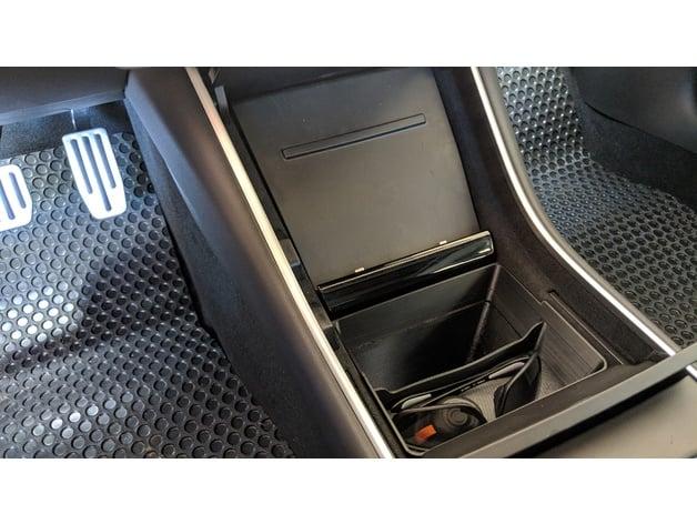 Tesla Model 3 Center Console Trash And Storage Bin By