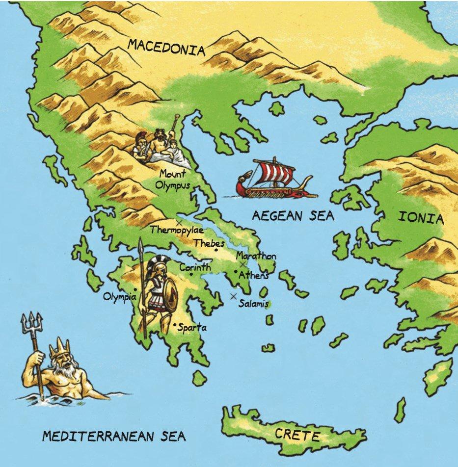 Athens Ancient Greek Map