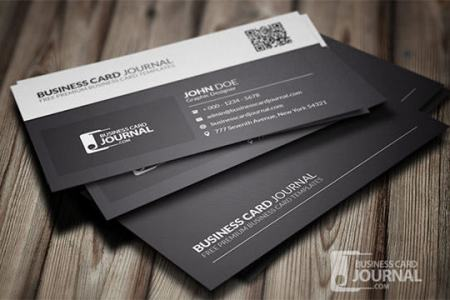 25  Excellent Black Business Cards Free Download Black   White QR Code Business Card Template
