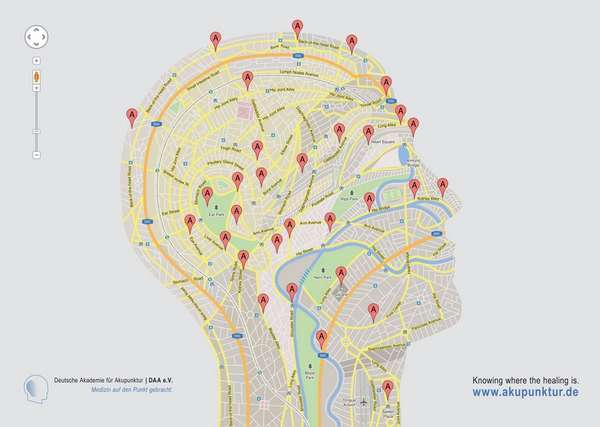 Geolocated Anatomy Ads : Acupuncture Ads