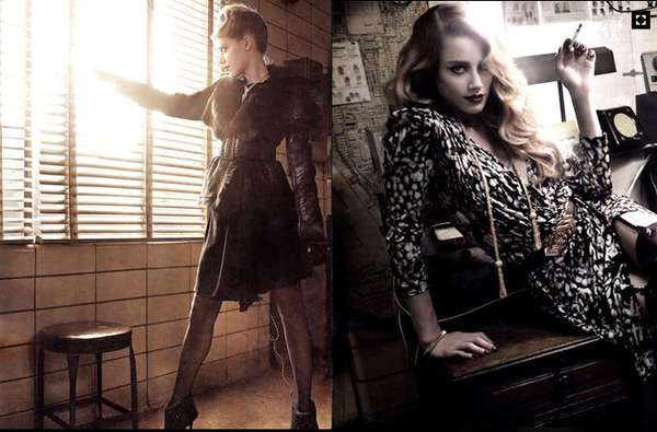 Mysteriously Glam Celebs Amber Heard Vogue Italia