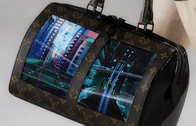 Screen Integrated Handbags Canvas Of The Future