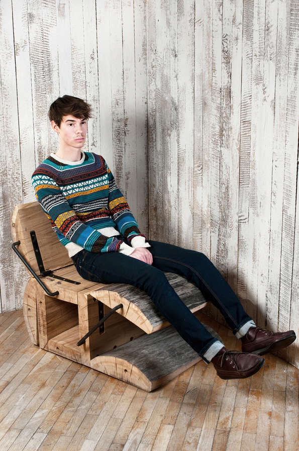 Tree Trunk Recliners Diy Log Furniture