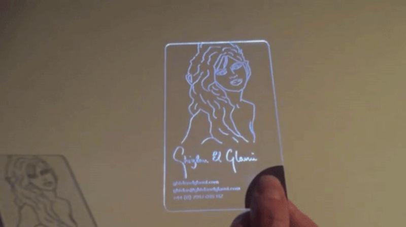 Luminous Led Business Cards Led Business Cards