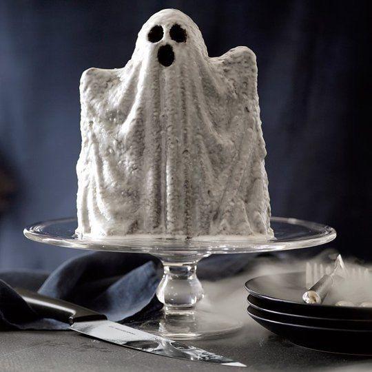 Ghost Shaped Cake Pans Making Halloween Treats