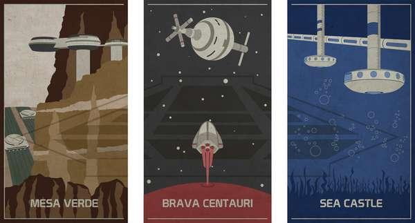 Retro Theme Park Posters Update Retro Horizons Posters