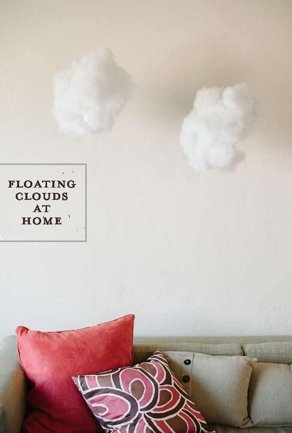 Diy Fluffy Cloud Decor Simple Home Decor Diy