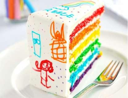 Crayon Box Cakes Sweetapolita Rainbow Doodle Birthday Cake