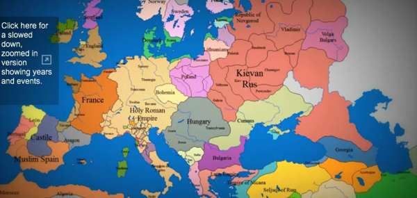 Mind Blowing Moving Maps   time lapse map of europe Mind Blowing Moving Maps