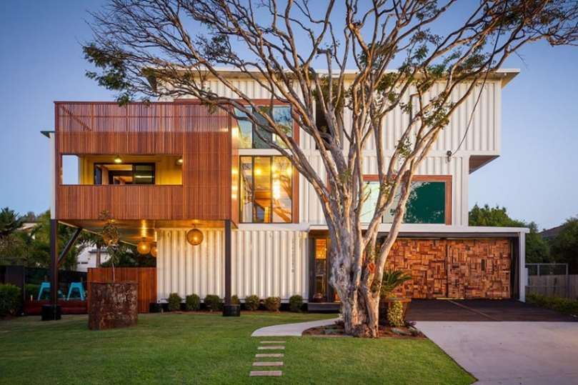 40 Modern Shipping Container Homes for Every Budget View in gallery Three story container house