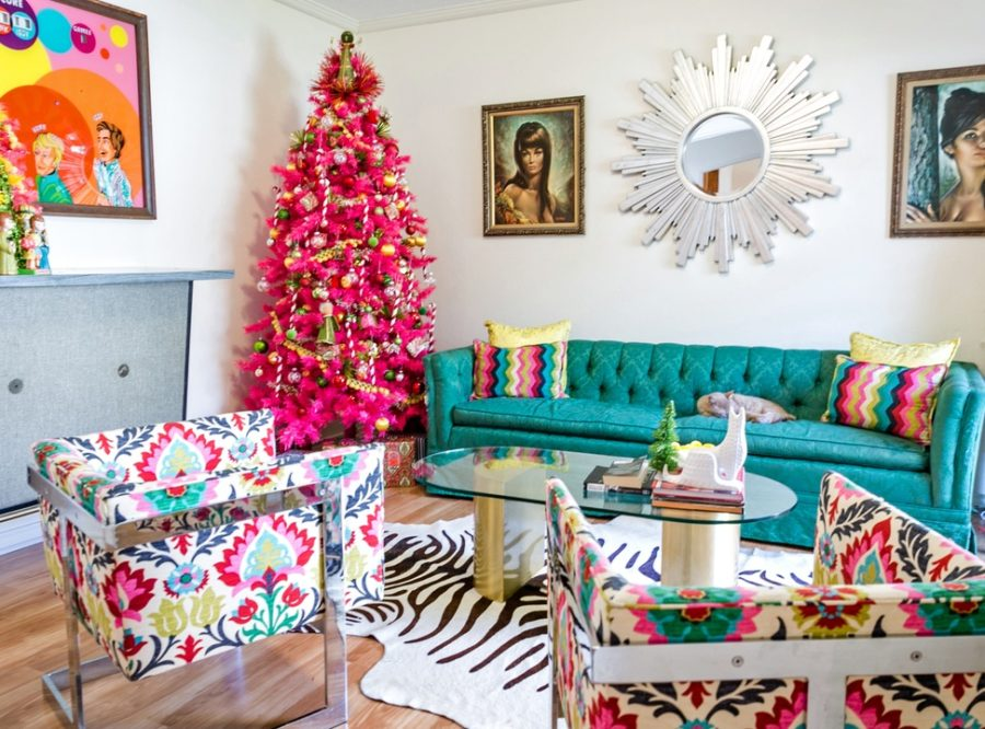 Modern Christmas Decor Ideas are all Style and Chic     Mid century modern Christmas decor ideas