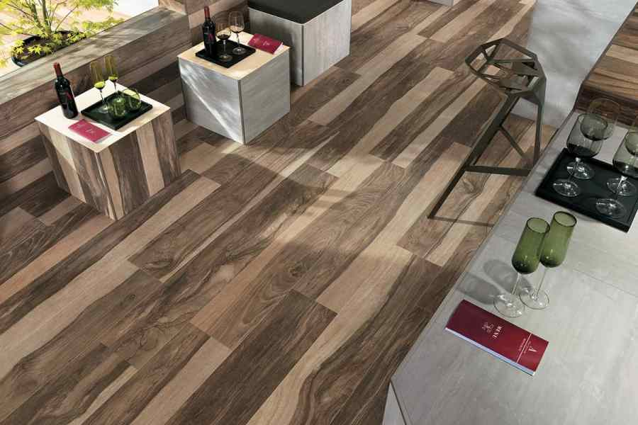 Wood Look Tile  17 Distressed  Rustic  Modern Ideas View in gallery porcelain floor tile that looks like hardwood atlas