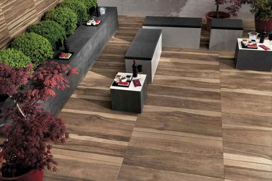 Wood Look Tile  17 Distressed  Rustic  Modern Ideas View in gallery porcelain patio tile that looks like hardwood atlas